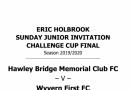 Sunday Cup Finals Programmes